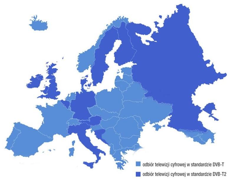 Telewizja cyfrowa w Europie DVB-T i DVB-T2